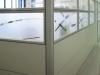 Adesivo jateado para divisória de vidro