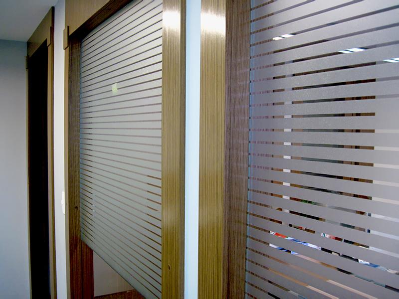 Aparador De Aliança Rommanel ~ Adesivo jateado para vidros Oficina de Sinalizaç u00e3o