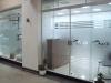 Adesivo Jateado para porta de vidro