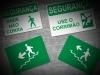Placas de sinalização de segurança